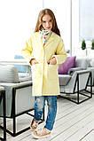 Прямое кашемировое пальто для девочки подростка, рост 134, 140, 146, 152. В наличии 4 цвета, фото 3
