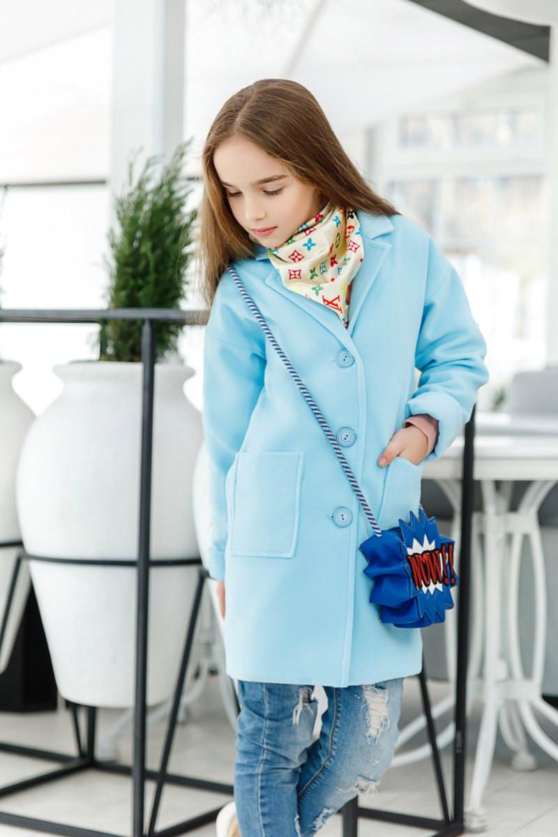 Прямое кашемировое пальто для девочки подростка, рост 134, 140, 146, 152. В наличии 4 цвета