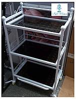 Тележка парикмахерская металлическая со стеклянными полками YRE, фото 1