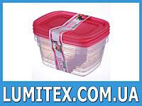 Контейнер пищевой Econom box 0,95 литра (3 шт) пластиковый для хранения еды, продуктов