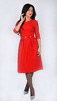 Женское красное платье миди, р-р 44-50, 280/310