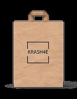 Коричневые бумажные крафт-пакеты пакеты с вашим логотипом за 3 дня!
