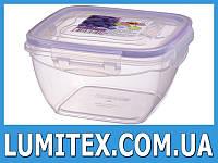 Контейнер пищевой FRESHBOX 1,5 литра квадратный пластиковый для хранения еды, продуктов