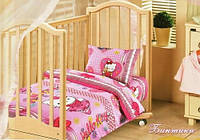 Комплект постельного белья Хелоу Китти(Бантики) в кроватку