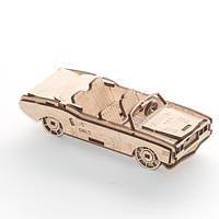"""Развивающий деревянный конструктор 3D пазл """"Кабриолет"""" (оригинальная сборная объемная модель из дерева)"""