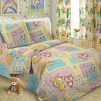 Ткань для детского постельного белья,поплин Совушки