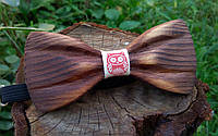 Деревянная галстук бабочка 3D Сова ручной работы, серия Зиррикот