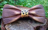 Деревянная галстук бабочка 3D Leo ручной работы, серия Зиррикот