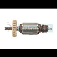 Якорь болгарки РИТМ 125 длина общая 150 мм, каркас диаметр 38 мм