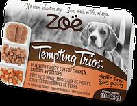 Консервы ZOE Tempting Trios для собак из индюшиного паштета, кусочков курицы, моркови и картофеля, 100 г