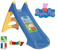 Горка детская пластиковая спуск 90см Свинка Пеппа