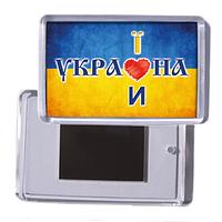 """Украинский акриловый сувенирный магнит на холодильник """"Україна - Украина"""""""