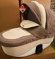 Коляска Adamex Barletta 671K-A коричневый лен-плетение