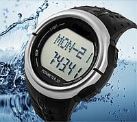 Часы спортивные DG1058HR с шагомером, пульсомером, секундомером, таймером, будильником, водозащита 3АТМ