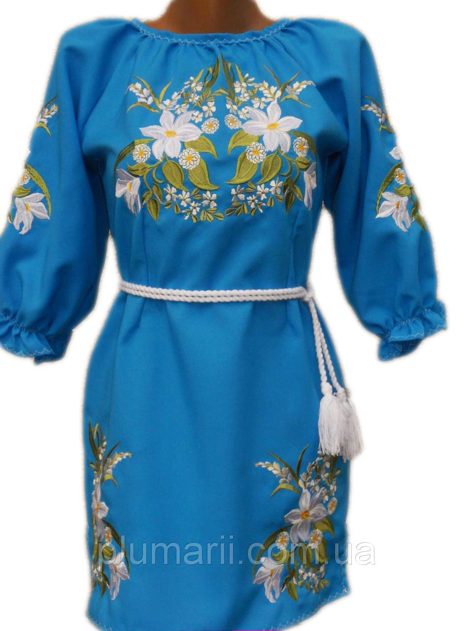 """Вишите плаття для дівчинки """"Носсі"""" (Вышитое платье для девочки """"Носси"""") DN-0048"""