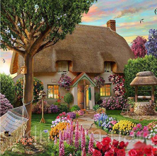 Алмазная вышивка Дом твоей мечты 40 х 30 см (арт. FS437) рисование камнями