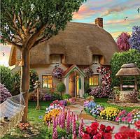 Алмазная вышивка Дом твоей мечты 40 х 30 см (арт. FS437) рисование камнями, фото 1