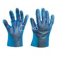 Перчатки HEP высокоэластичный полиэтилен синие р.М 200 шт