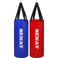 """Боксерский мешок SENAT """"БОЧКА"""" 70х28 ПВХ 4 подвеса 2 цвета (красный, синий)"""