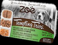 Консервы ZOE Tempting Trios для собак из паштета тунца, кусочков курицы, тыквы и картофеля, 100 г