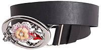 Красивый кожаный  ремень для женщин Dori blx90404 ДхШ: 130х4 см, черный