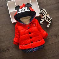 Детская куртка для девочки на  2, 3, 4 года
