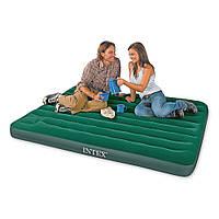 Надувной матрас кровать со встроенным механическим насосом