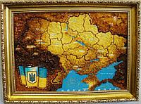 Карта Украины сложная