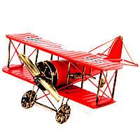 Модель двукрылого самолета биплана красный 819C