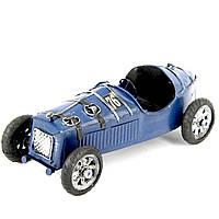 Модель гоночного ретро автомобиля синий 8324