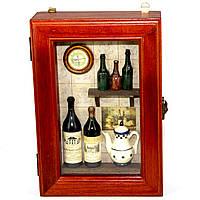 "Ключница для дома настенная ""Бутылки вина"" 58301A"