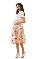 Костюм женский, юбка и блуза, размер 42,44,46. В наличии 4 цвета