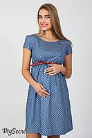Легкое платье для беременных и кормящих Celena, звездочки на темном джинсе