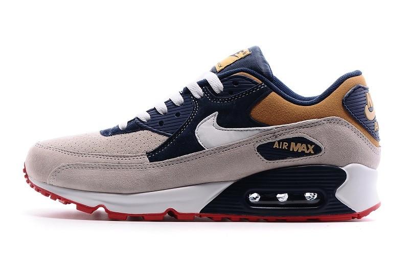 Мужские кроссовки Nike Air Max 90 Grey Navy Brown