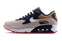Мужские кроссовки Nike Air Max 90 Grey Navy Brown, фото 1