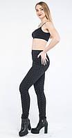 Леггинсы-штаны с утяжкой Шанель черные (42-56)