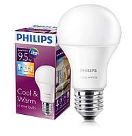 Лампа светодиодная Philips Scene Switch A60 9.5-60W E27 3000K/6500K