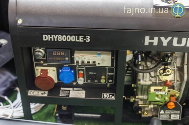Генератор Hyundai DHY8000LE-3 фото 7