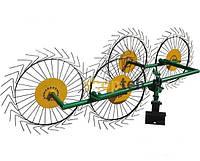 Грабли ворошилки Солнышко 4-х колесные для мотоблоков и минитракторов