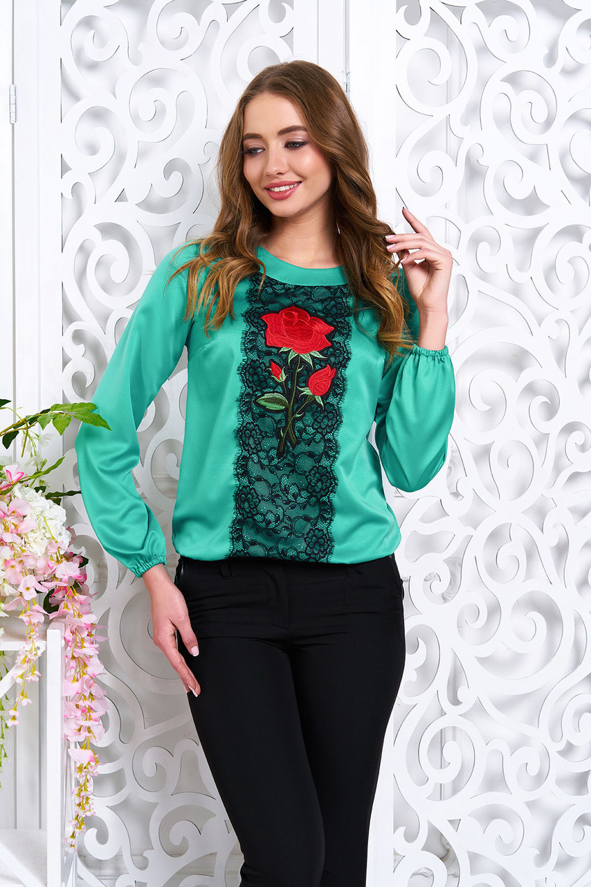 Блуза Розитта 6 цветов бирюза