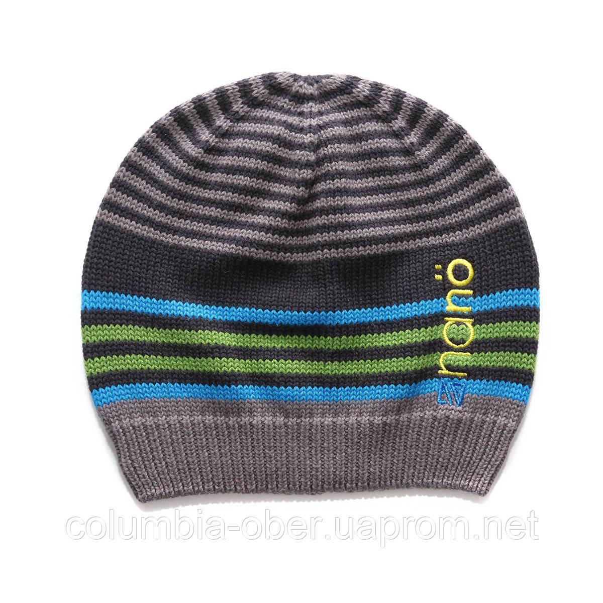 Демисезонная шапка  для мальчика  NANO 257 TUT S17 Deep Grey.  Р-р  12/24 мес - 7/12.