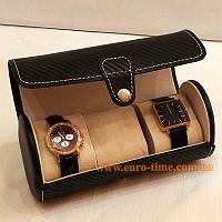 Шкатулка для перевозки 3 пар часов, карбон, фото 1