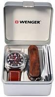 Прекрасный подарочный набор наручные часы Wenger AeroGraph Cockpit Chrono и нож EvoWood 77014