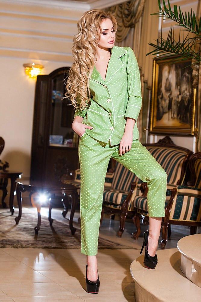 Костюм джинс коттон двойка зелёный
