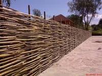 Плетеный (плетень) забор из лозы