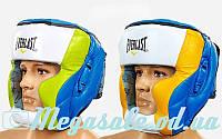 Шлем боксерский с полной защитой Elast 011 кожа (шлем бокс): L/XL