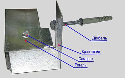 Оцинкованная подконструкция для фасада