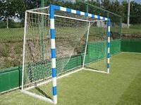 Ворота мини футбольные 3000х2000 (разборные) Алюминевые с полосами