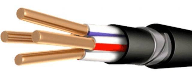 Силовий мідний броньований кабель ВБбШвнг 3*35+1*16, фото 2