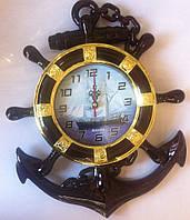 Часы настенные морские кварцевые Якорь Корабль